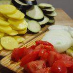 Ingredientes cortados para Cazuela criolla