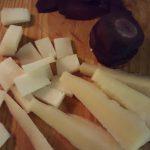 Tacos de queso para ensalada de kale