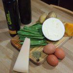 Ingredientes para Pastel de judías verdes