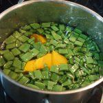 verduras para pastel de judías verdes