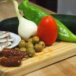 ingredientes para Ensalada con arroz integral y sardinillas ahumadas proceso