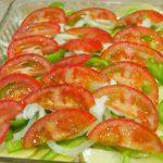 verduras para horno con tomate