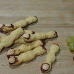 Dedos de bruja listos para comer